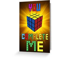 Rubik's Cube - Retro Love Card Greeting Card