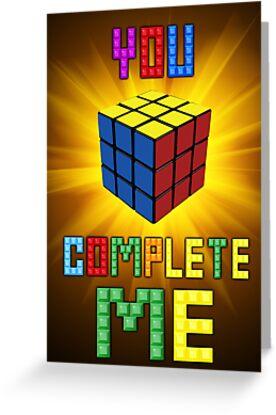 Rubik's Cube - Retro Love Card by Liam Liberty