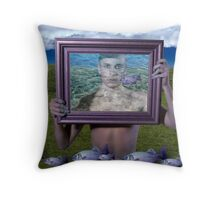 Flying Fish (Magritte) Throw Pillow