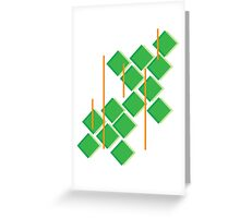 Green Feeling Greeting Card