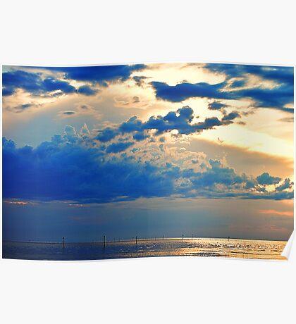 Sunset on Bayport Poster