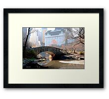 A bridge made of stones, a path supported by boulders Framed Print