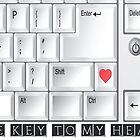 The Key To My Heart - Geeky Love Card by Liam Liberty
