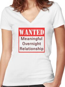 Wanted Women's Fitted V-Neck T-Shirt