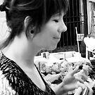 Sicilian girl, Palermo market by Robert Down