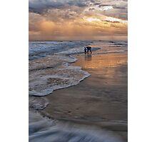 Exploring the Beach Photographic Print