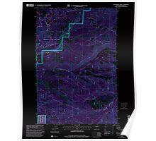 USGS Topo Map Washington State WA Foundation Ridge 241193 2000 24000 Inverted Poster