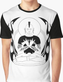 Punk Rock Buddha - Full body Graphic T-Shirt