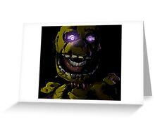 Creepy Springtrap design (FNAF) Greeting Card