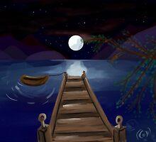 The midnight Pier by peachfly