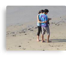 Young Couple at the Beach - Pareja Joven en la Playa, Puerto Vallarta, Mexico Canvas Print