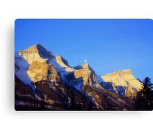 Mountain Kisses the Moon Canvas Print