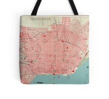 Vintage Map of Buenos Aires Argentina (1888) Tote Bag