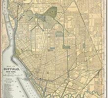 Vintage Map of Buffalo New York (1891) by BravuraMedia