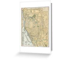 Vintage Map of Buffalo New York (1891) Greeting Card
