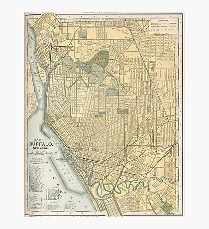 Vintage Map of Buffalo New York (1891) Photographic Print