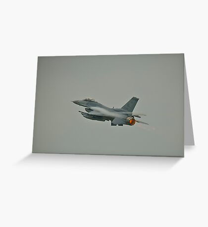 General Dynamics F16 Fighting Falcon Greeting Card