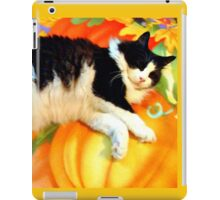 Posing on Pumpkins iPad Case/Skin