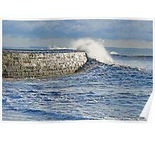 Winter Storms ~ Lyme Regis Poster