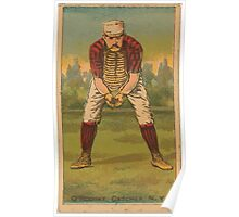 Benjamin K Edwards Collection Jim O'Rourke New York Giants baseball card portrait Poster