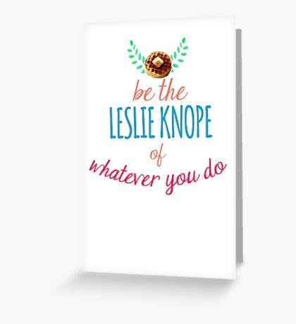 Team Leslie Knope Greeting Card