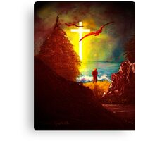 At the Cross Canvas Print