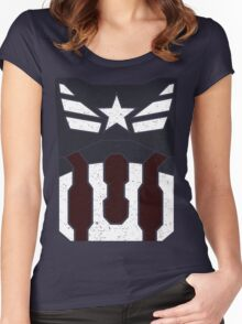 American Shield - Distressed Women's Fitted Scoop T-Shirt