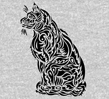 "Tribal Stylized Cat - ""Sascha Bear"" Zipped Hoodie"