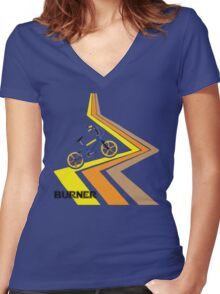Retro 1980's Bmx Bike Men's T-shirt Women's Fitted V-Neck T-Shirt