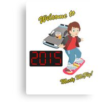 Welcome to 2015, Marty McFly! Metal Print