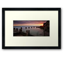 Through the Gap Framed Print