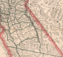 Vintage Map of California (1883) Sticker