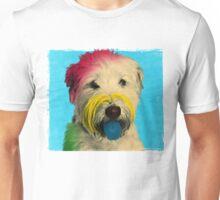 Colorful Pop Art Poodle who Looks Like Albert Einstein  Unisex T-Shirt