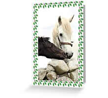 Connemara Pony Chistmas Card Greeting Card