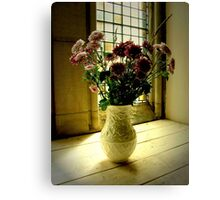 Flowered Window Light Raphoe, Donegal, Ireland Canvas Print