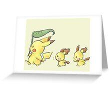 Pika pika Greeting Card