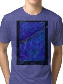 USGS Topo Map Washington State WA Boundary 240175 1952 24000 Inverted Tri-blend T-Shirt