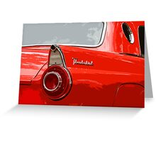 Red T-Bird Greeting Card