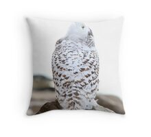 Keep Watching the Skies - Snowy Owl Throw Pillow