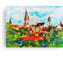 Summertime in One of Draculas Cities Canvas Print