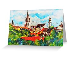 Summertime in One of Draculas Cities Greeting Card