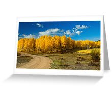 Fall Rural Roads Greeting Card