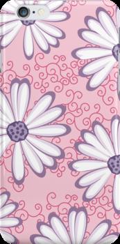 Pretty Princess Pink and Purple Flower Pattern by rozine