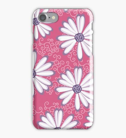 Pretty Princess Pink and Purple Flower Pattern iPhone Case/Skin