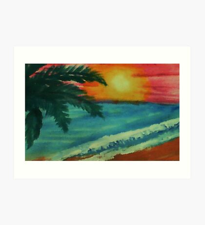 The ultimate sunset, watercolor Art Print