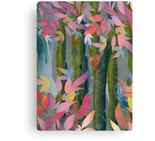 Autumn by a Waterfall Canvas Print