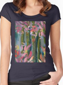Autumn by a Waterfall Women's Fitted Scoop T-Shirt