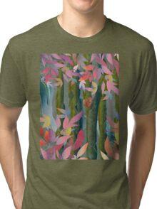 Autumn by a Waterfall Tri-blend T-Shirt