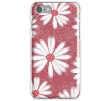 Soft Pastel Pink Daisy Flower Tribal Tattoo Design iPhone Case/Skin
