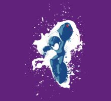 Mega Man Splattery Shirt or Hoodie - Any Color